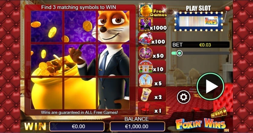 Scratch Foxin Wins Slot Gameplay