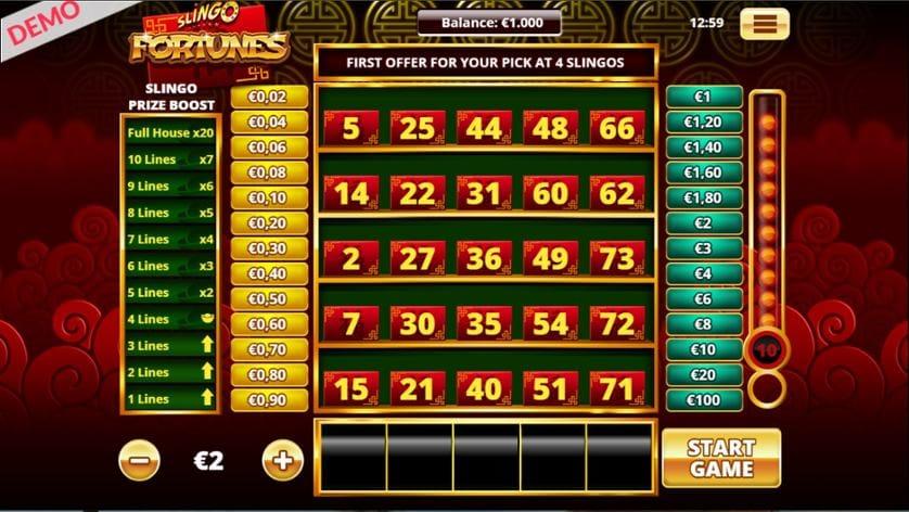 Slingo Fortunes Slot Win