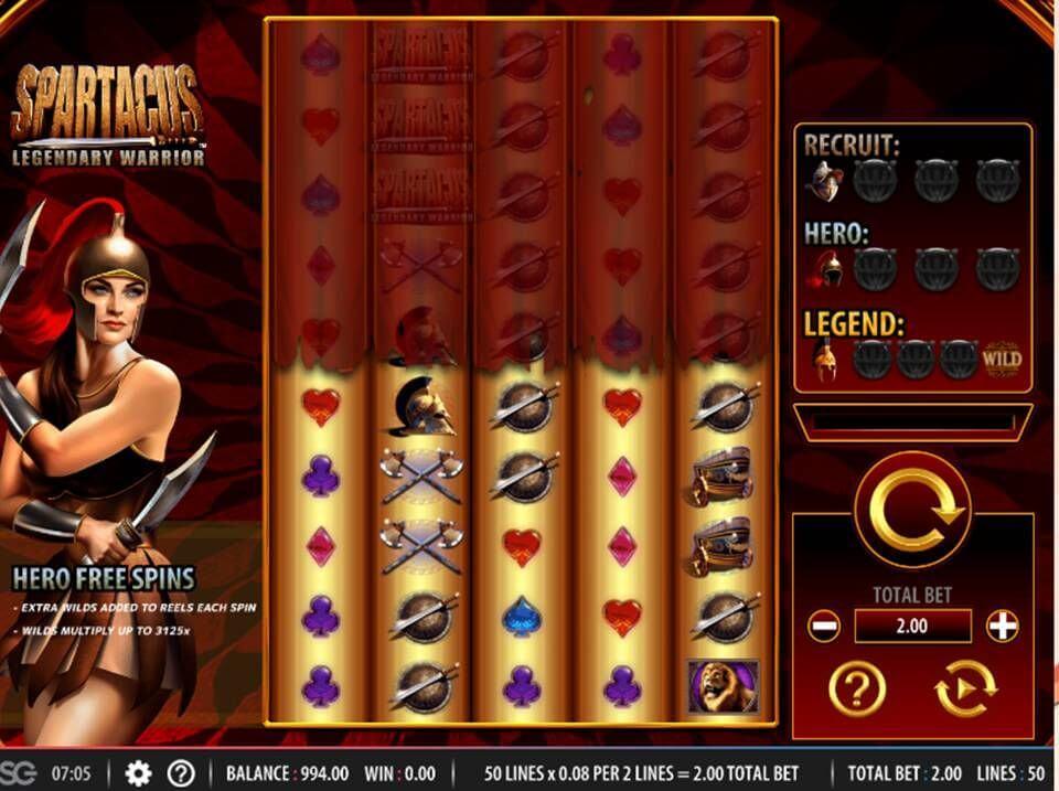 Spartacus Legendary Warrior Slot Gameplay