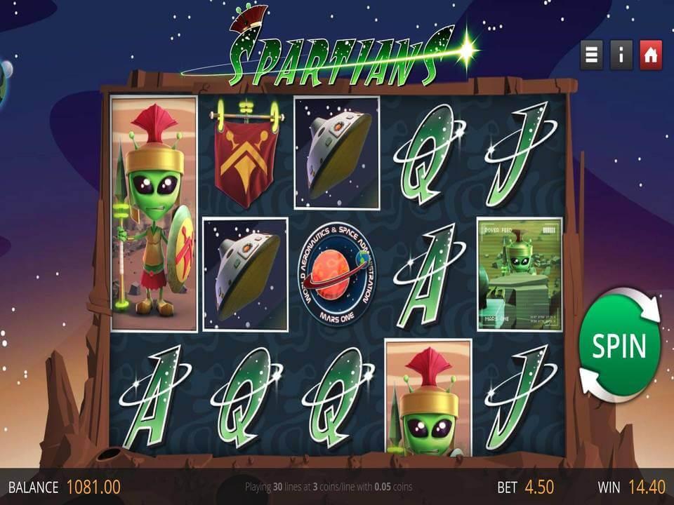 Spartians Slot Bonus