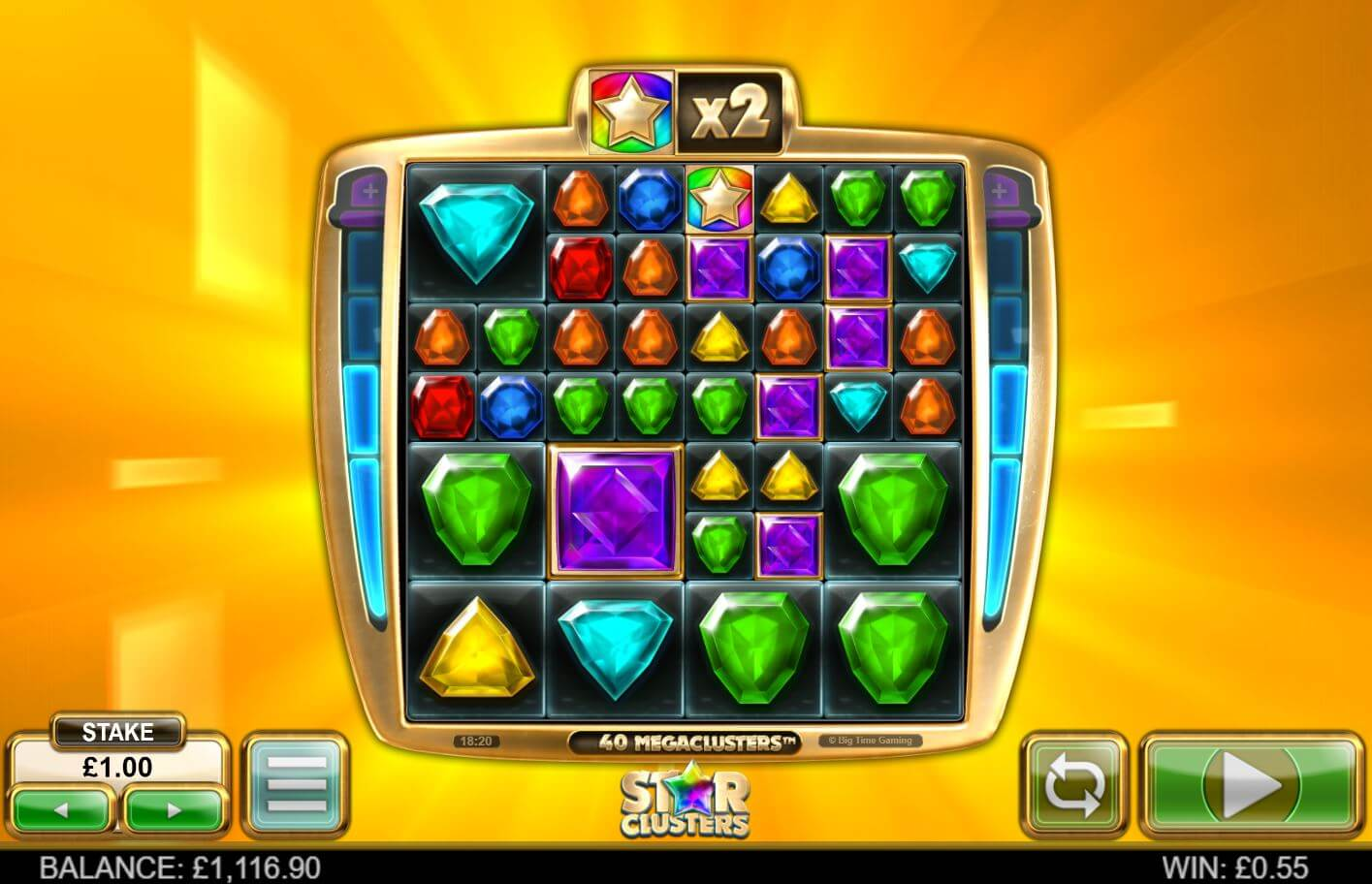 Star Clusters Slot Gameplay