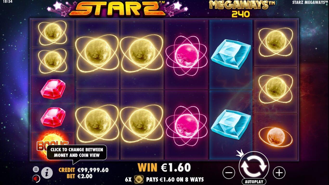 Starz Megaways Slot Bonus