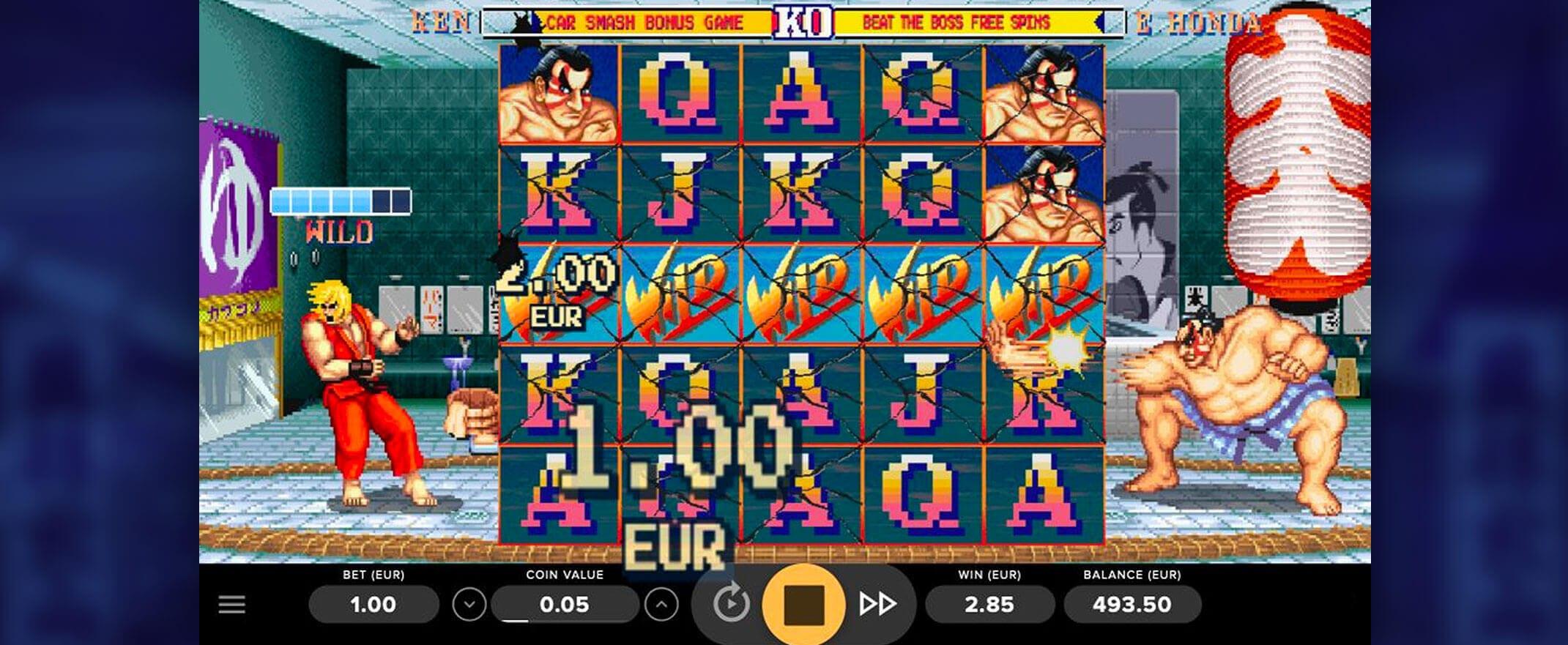 Street Fighter 2 Slot Bonus