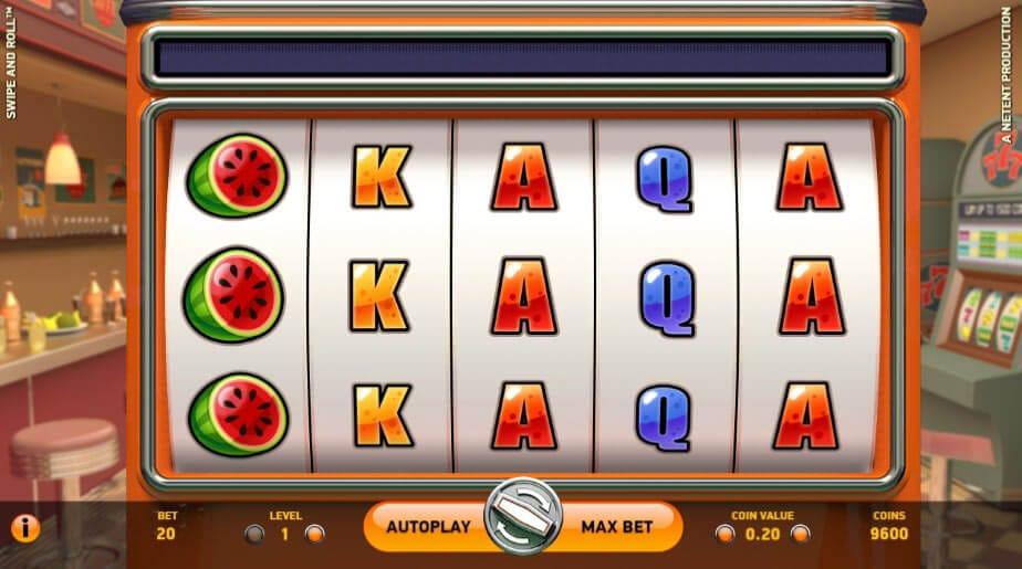 Swipe & Roll Slot Gameplay