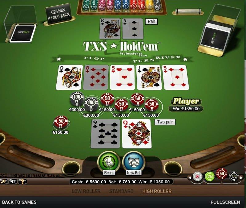 Txs Holdem Pro gameplay