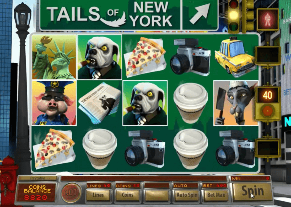 Tails of New York Slot Gameplay