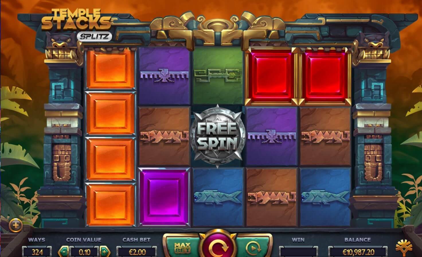 Temple Stacks Splitz Slot Gameplay