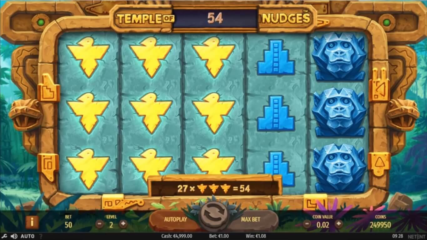 Temple of Nudges Slot Bonus