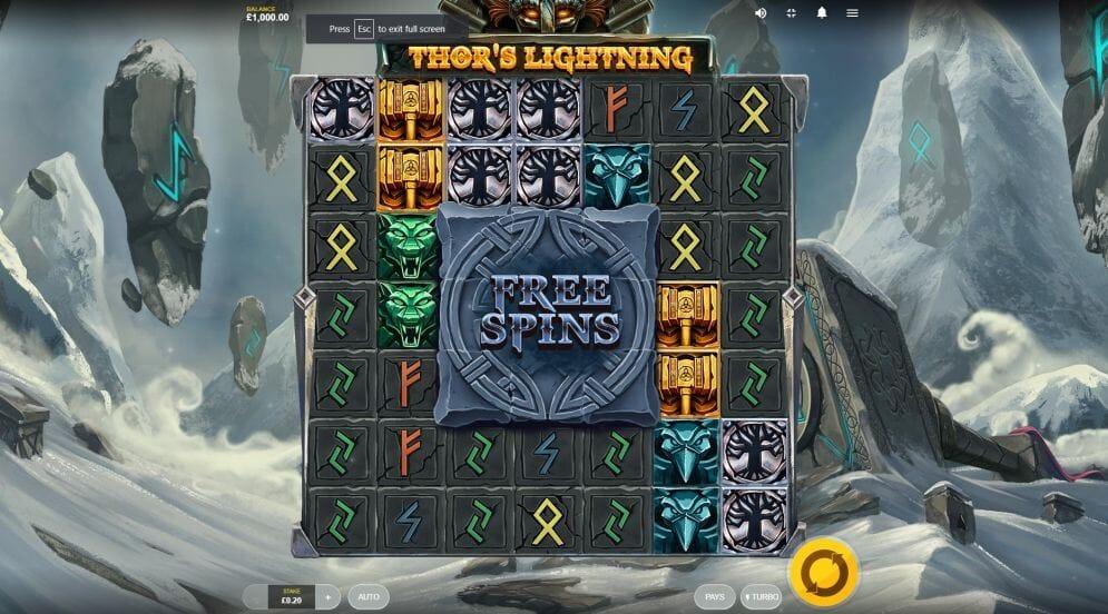 Thor's Lightning Slot Bonus
