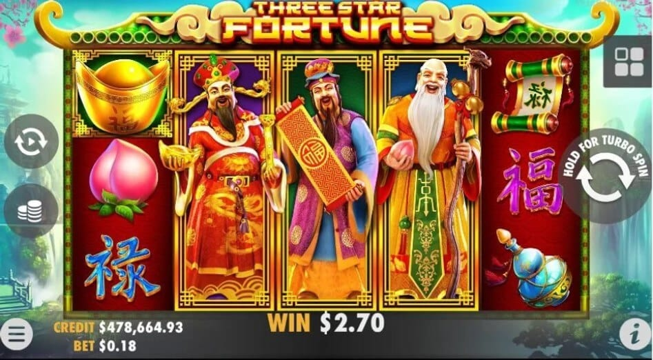 Three Star Fortune Slot Gameplay