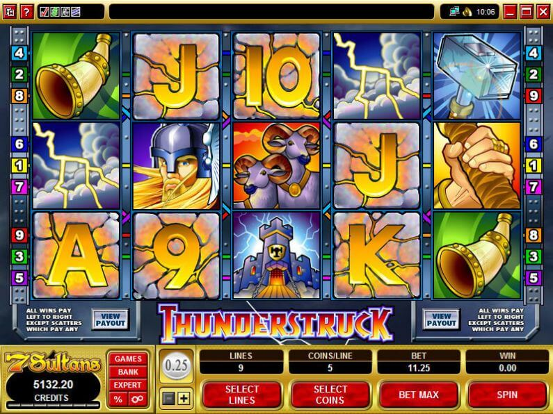 Thunderstruck Slot Gameplay