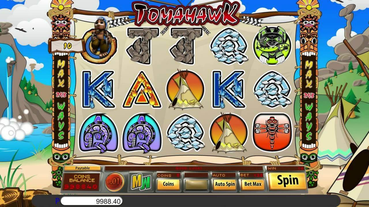 Tomahawk Slot Gameplay