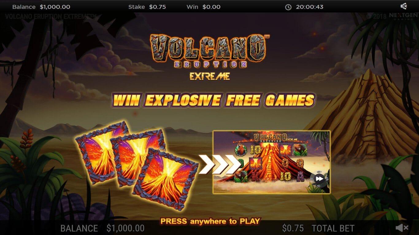 Volcano Eruption Extreme Slot Bonus