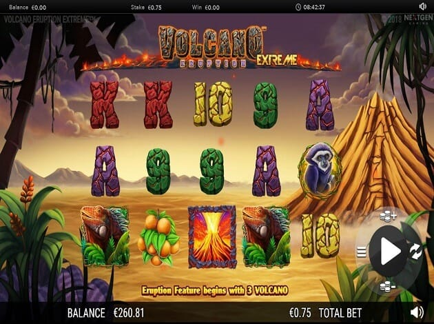 Volcano Eruption Extreme Slot Gameplay