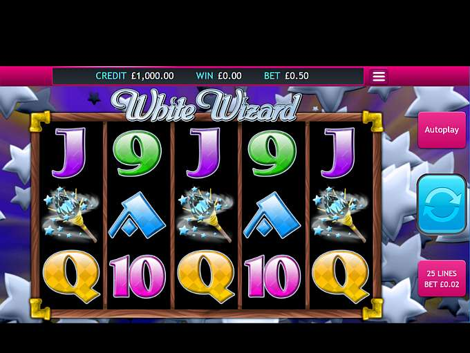 white wizard slot game