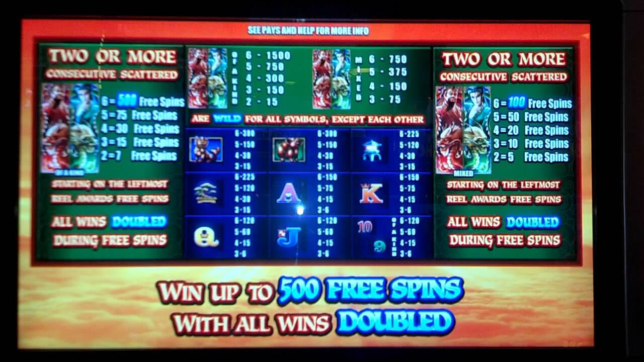 Wicked Dragon Wilds Slot Bonus