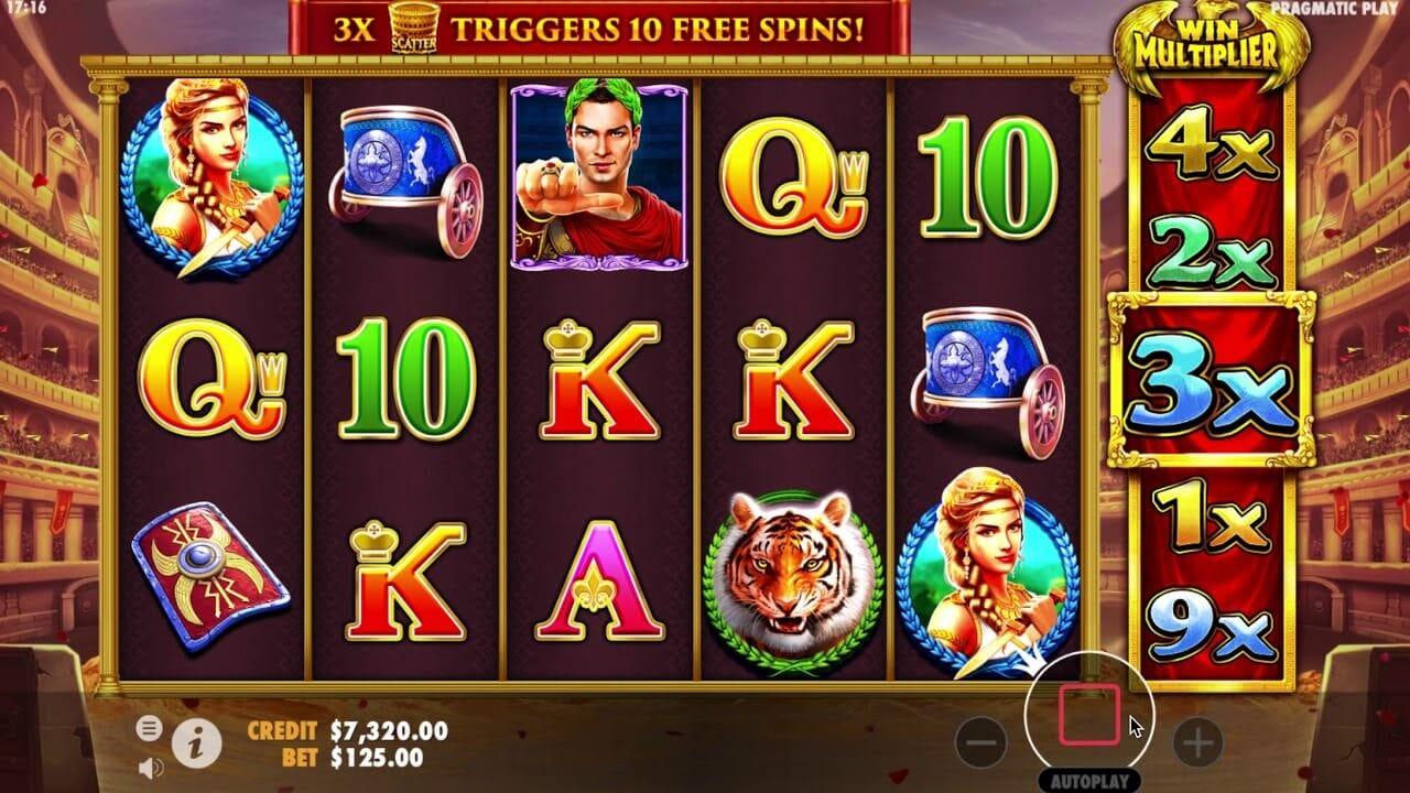 Wild Gladiators Slot Bonus