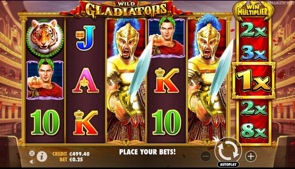 Wild Gladiators Slot Gameplay