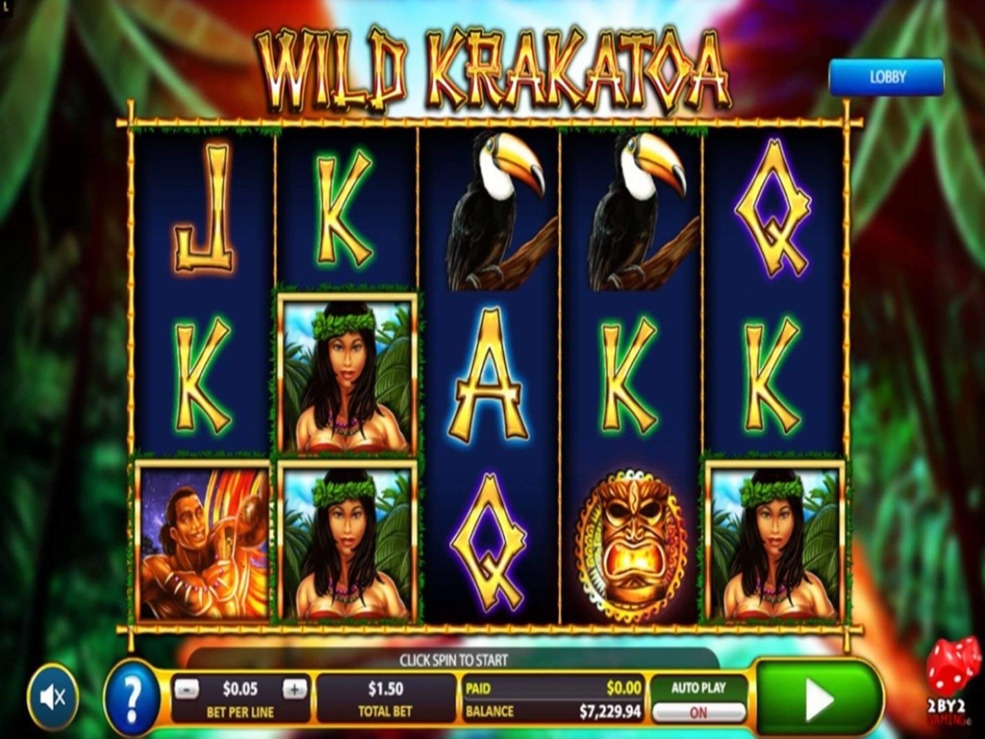 Wild Krakatoa Slot Gameplay