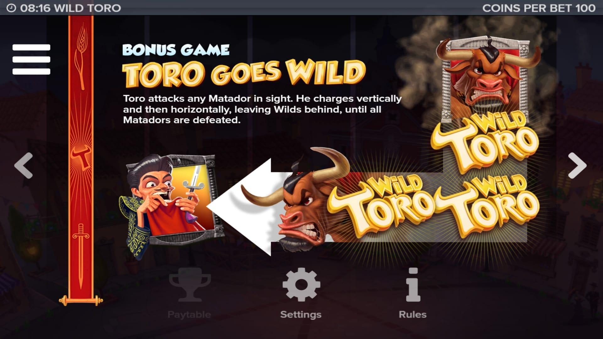 Wild Toro Wild Slot Game