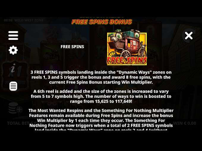 Wild West Zone Slot Bonus