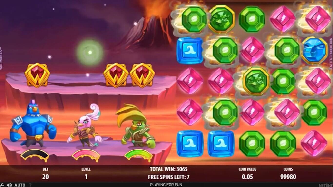 Wild Worlds Slot Bonus