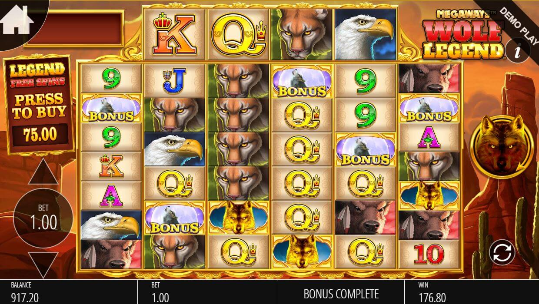 Wolf Legend Megaways Slot Bonus