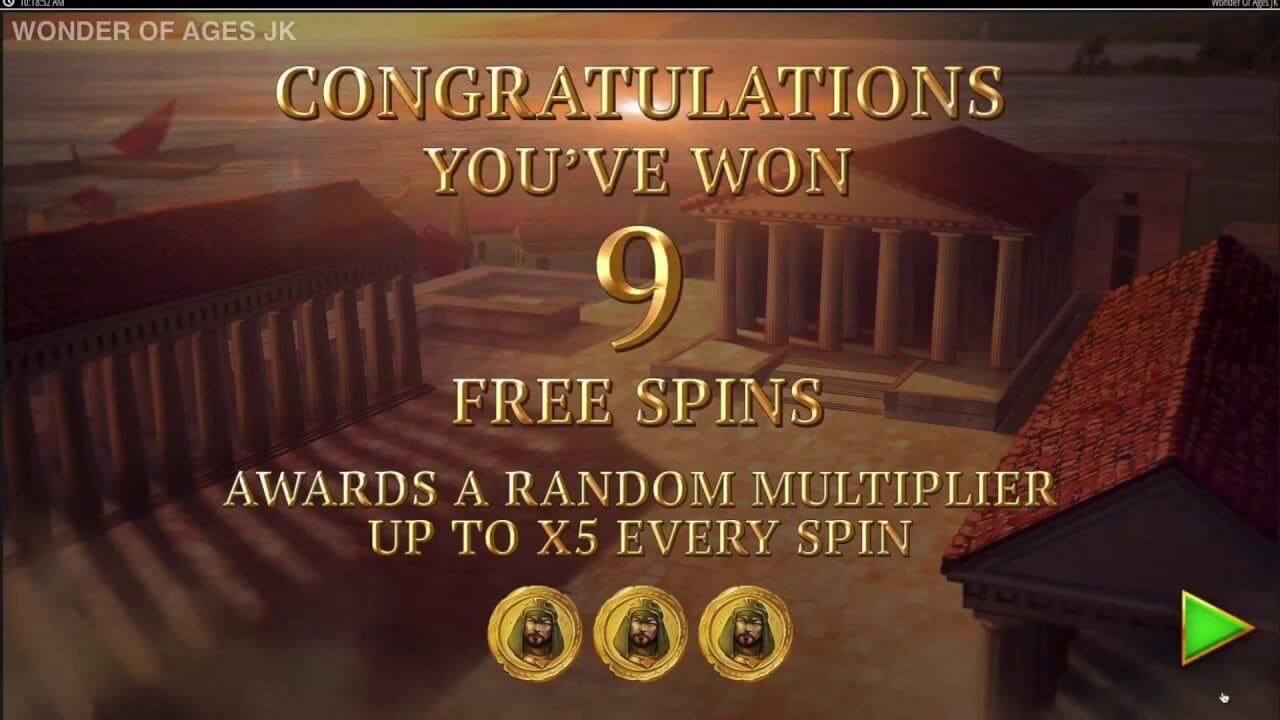 Wonder of Ages Slot Bonus