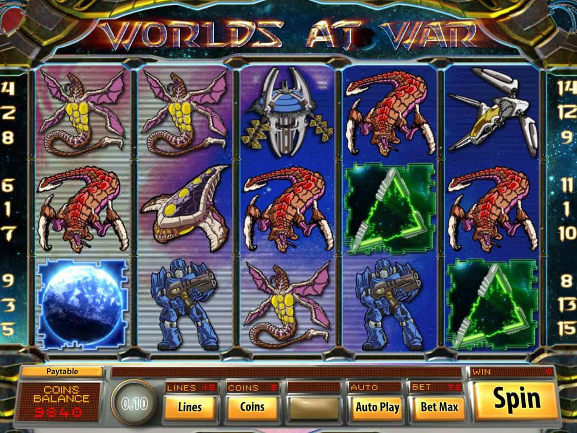 Worlds at War Slot Gameplay