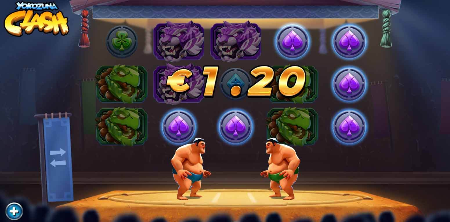 Yokozuna Clash Slot Gameplay