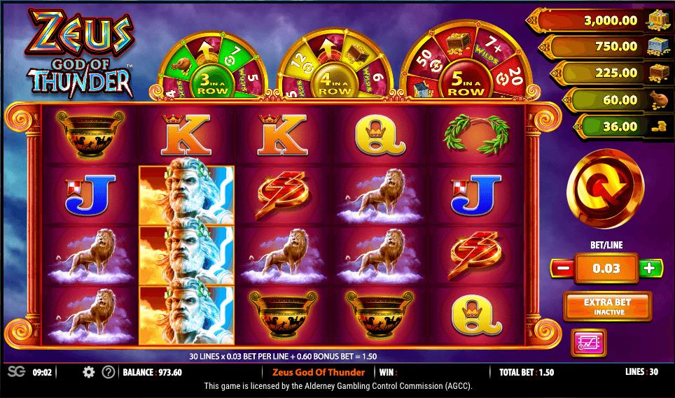 Zeus God of Thunder Slot Gameplay