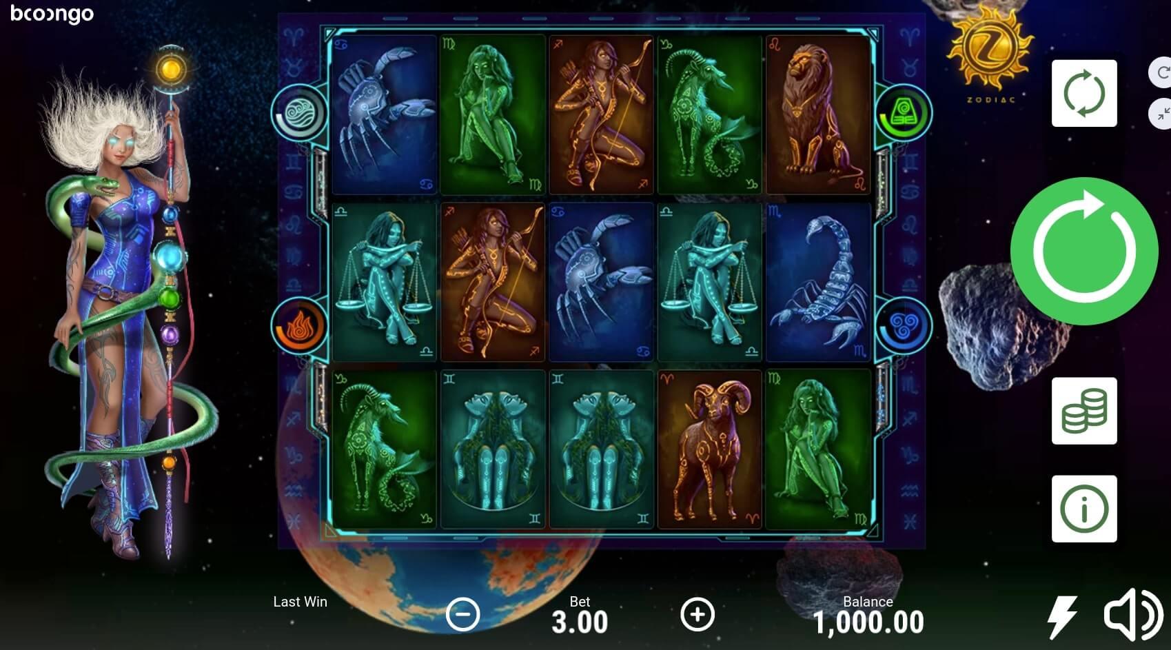 Zodiac Slot Gameplay