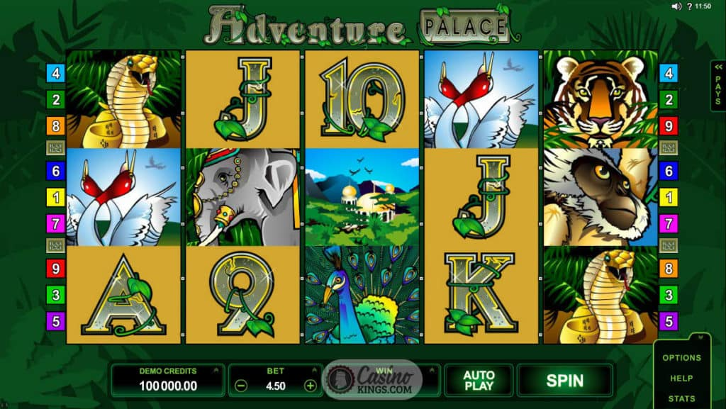 Adventure Palace Gameplay Slot Game