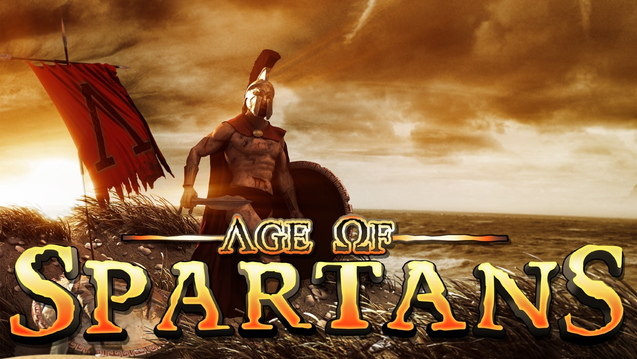 Age of Spartans slots game logo