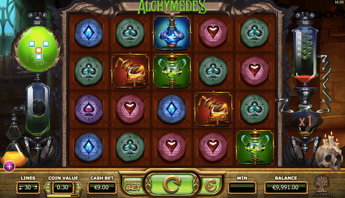 Alchymedes Slot Game Gameplay