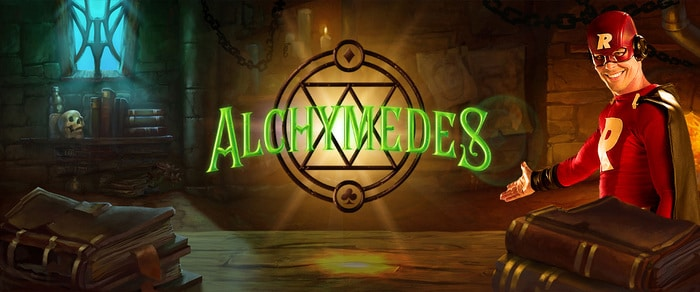 Alchymedes Slot Game Logo
