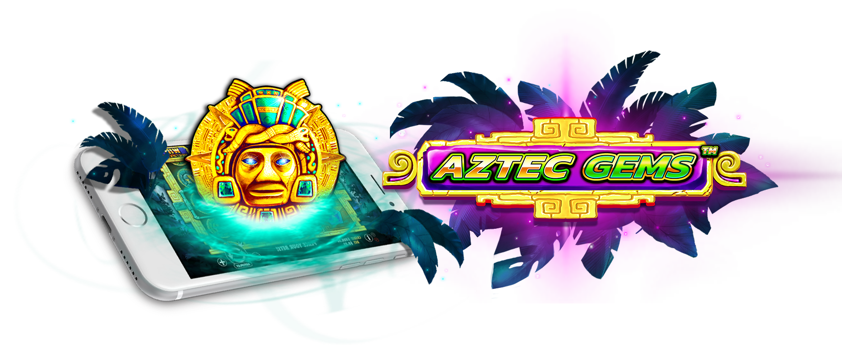 aztec gems slots game logo