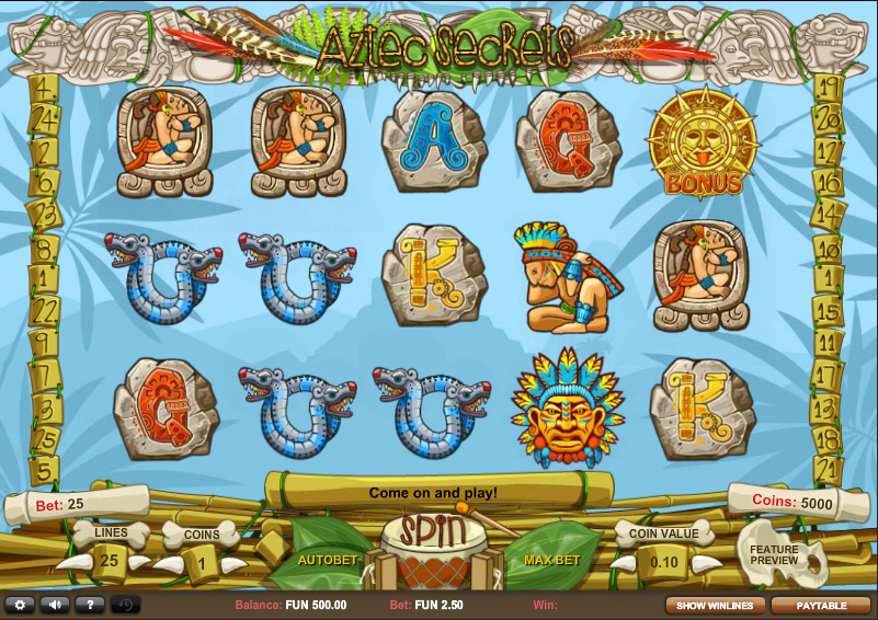 Aztec Secrets Slot Game Gameplay