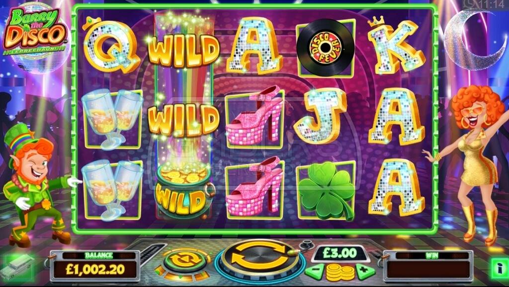 Barry The Disco Leprechaun Slot Gameplay Image