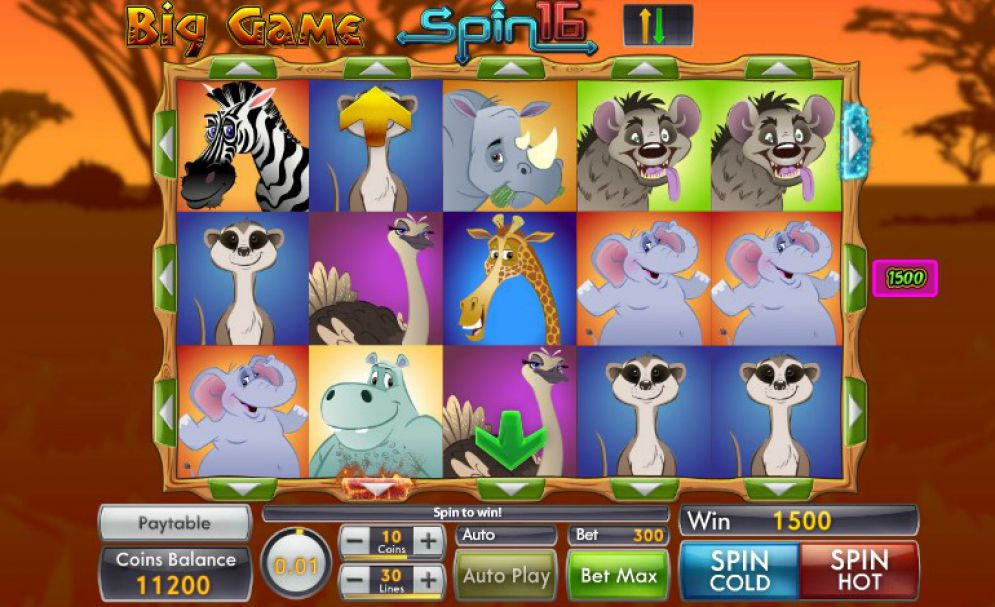 big game spin 16 gameplay