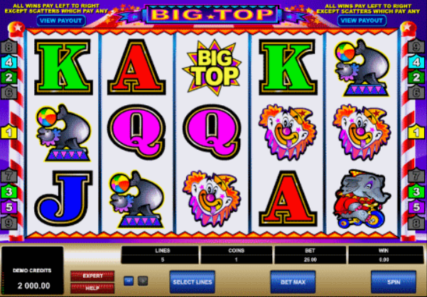 Big Top Slot Game Gameplay