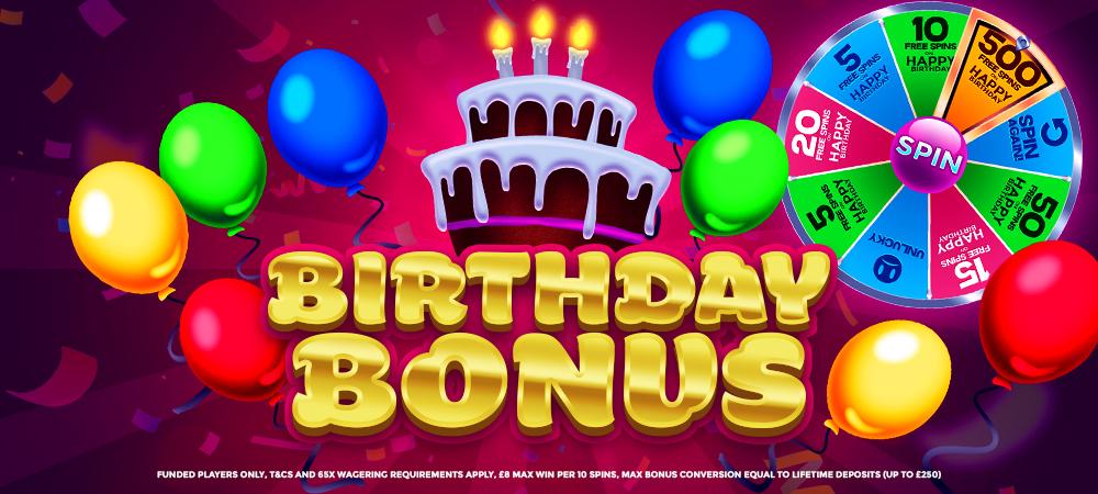 Birthday-Bonus Slots-Baby