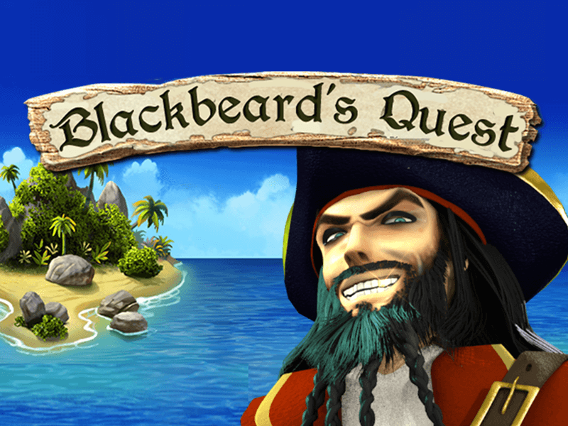 blackbeard's quest slots game logo