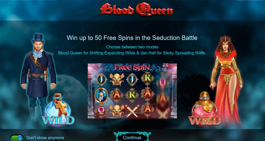 blood queen free spins