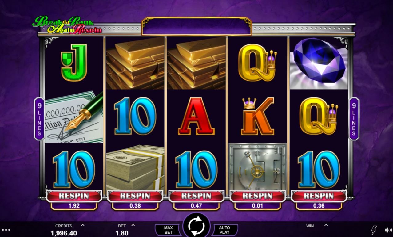 Break Da Bank Again Respin gameplay casino