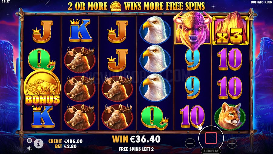 Buffalo King Casino Game Bonus