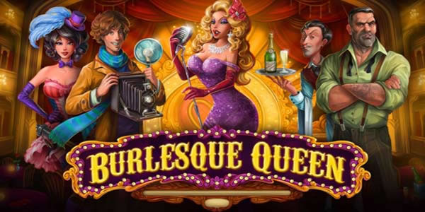 Burlesque queen slots game logo