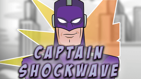 Captain Shockwave slots game logo