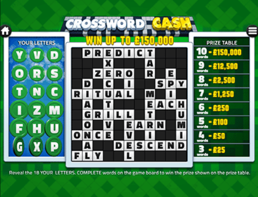Crossword Cash Screenshot Slot Game