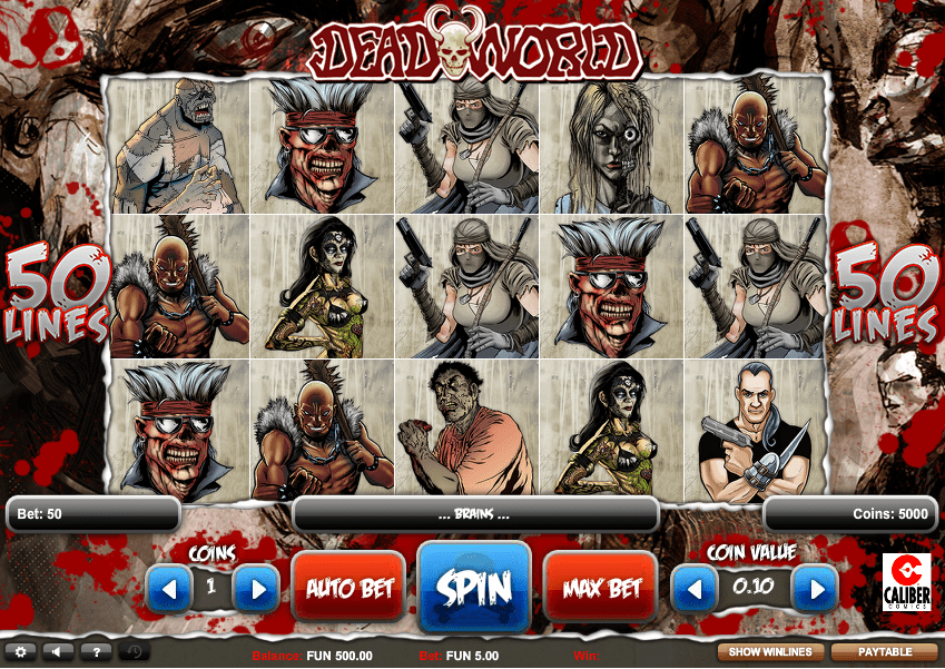 Deadworld Slot Game Screenshot